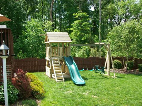 small backyard playsets backyard playground hand crafted wooden playsets swing
