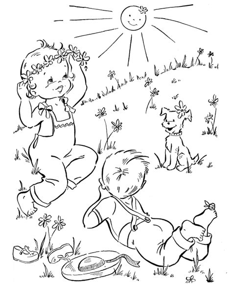 coloring page sunny day spring coloring pages best coloring pages for kids