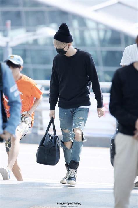 Fashion Min Min airport 150904 bts suga min yoongi bangtan bangtanboys bts fashion style kfashion