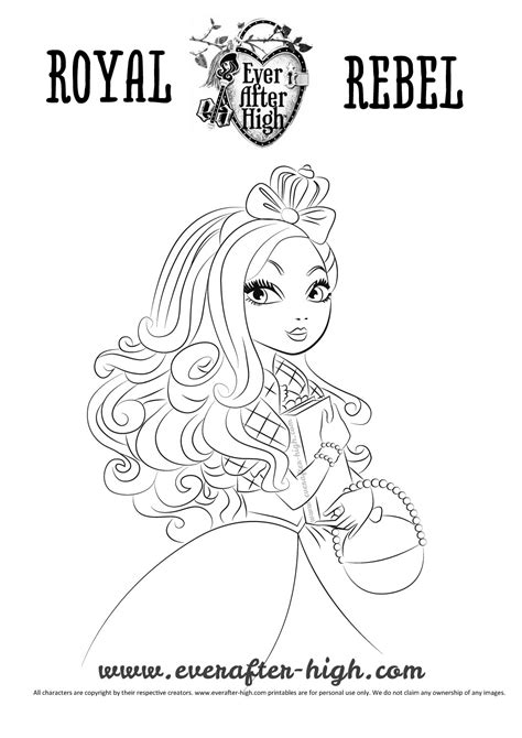 ever after high coloring pages apple white apple white coloring page ever after high
