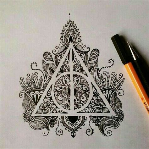 harry potter art drawing mandala image 4239494 by