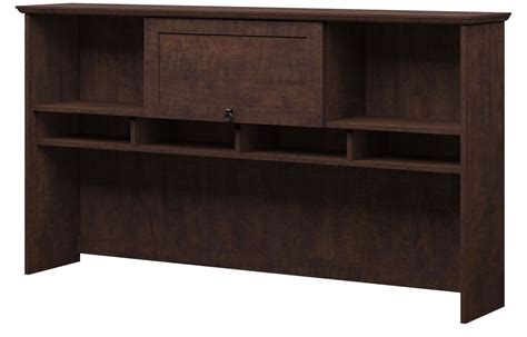 Cherry Corner Desk With Hutch Buena Vista Cherry Corner Desk With Hutch 6 Cube Storage From Bush Buv006msc