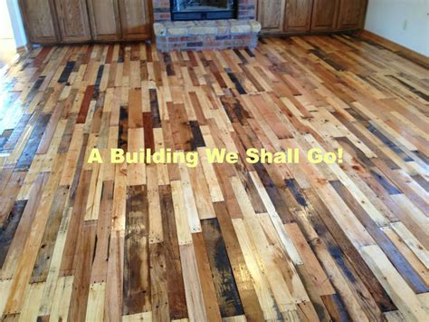 Pallet Board Flooring by A Building We Shall Go The Of Pallet Wood Flooring