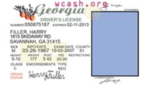 best photos of georgia id template georgia driver