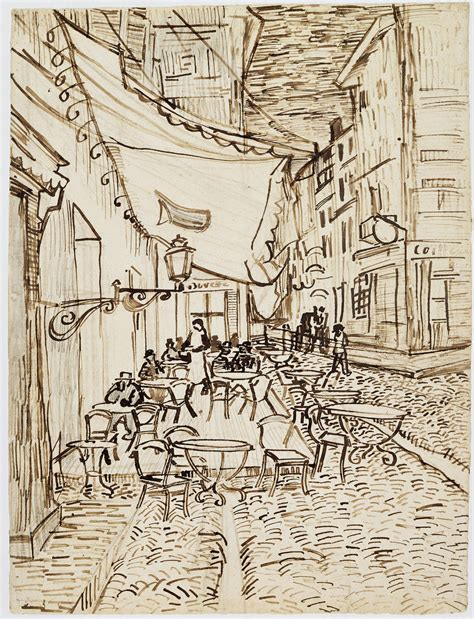 Sketches Gogh by Looking For Leonardo In Gogh S Quot Cafe Terrace At Quot