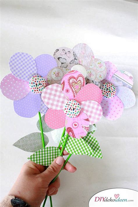 Basteln Mit Papier Blumen by Diy Muttertagsgeschenk Blumen Basteln Mit Papier