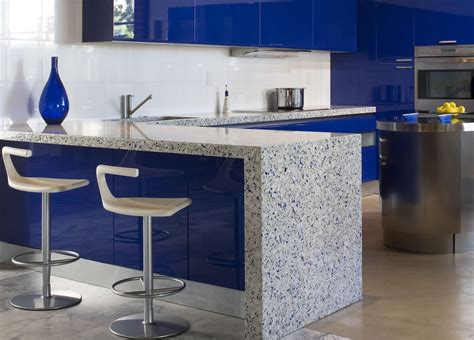 blue kitchen countertops 7 most popular types of kitchen countertops materials