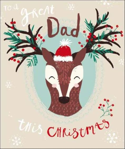 great dad christmas greeting card cards