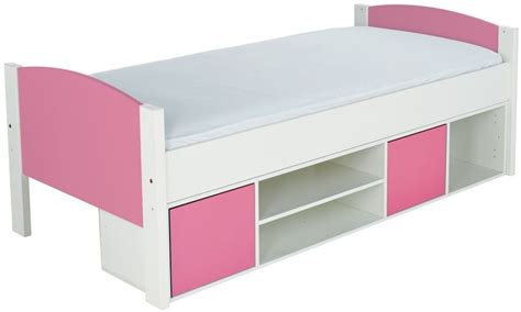 Stompa Bed Shelf by Buy Stompa Storage Cabin Bed With Pink Headboard And Doors