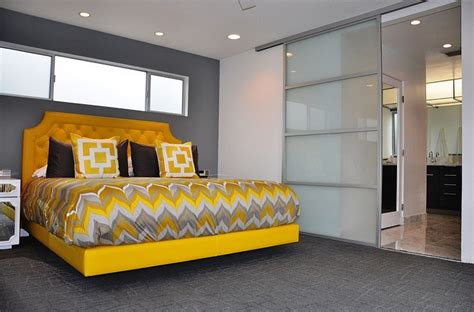 mid century modern bedroom ideas cheerful sophistication 25 gray and yellow bedrooms