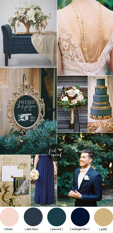 colour schemes for weddings dark blue and gold wedding theme