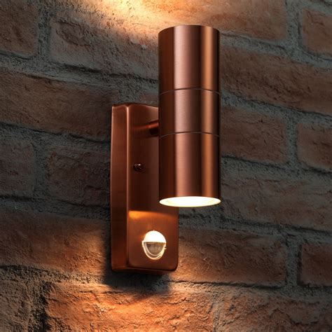 Light Sensing Outdoor Lights Auraglow Pir Motion Sensor Up Outdoor Wall Security Light Warminster Copper