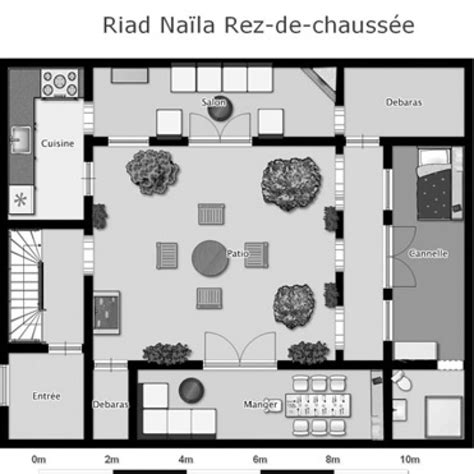 Moroccan Riad Floor Plan | bedrooms riad naila marrakech medina