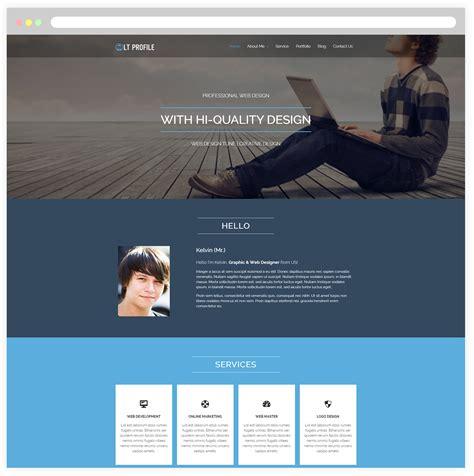 Lt Profile Free Responsive Cv Wordpress Profile Theme Responsive Joomla And Wordpress Themes Profile Website Template