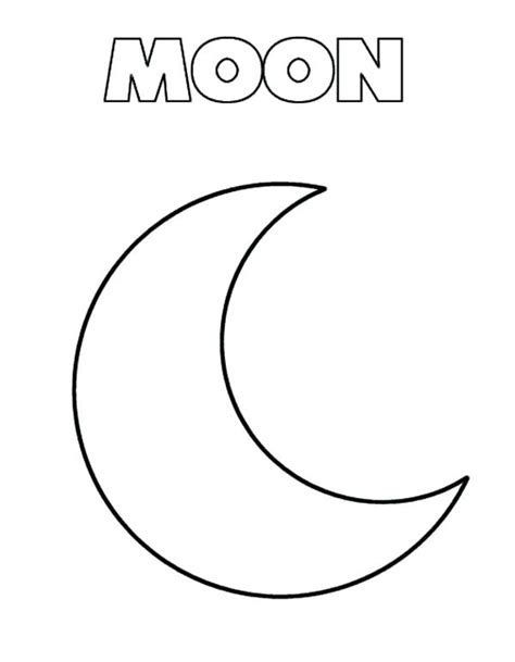 coloring page crescent moon moon coloring pages bikinkaos info