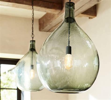 pottery barn clift l clift oversized glass pendant pottery barn