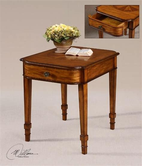 tall accent table with drawer 28 quot tall end table with curved drawer carter furniture