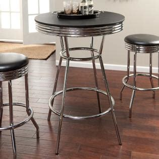 Retro 3 Chrome Bar Stools And Table Set by Furnituremaxx Retro 3 Chrome Bar Stools And Table Set