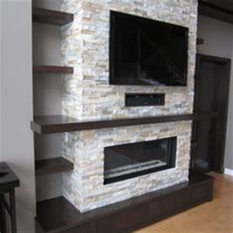 Stacked Stone Fireplace Ideas fireplace wall on pinterest stone fireplaces