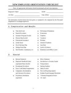 new employee orientation checklist template free microsoft