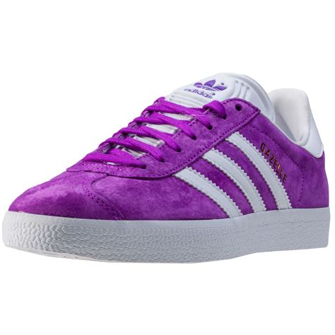 adidas gazelle womens trainers purple white new shoes ebay