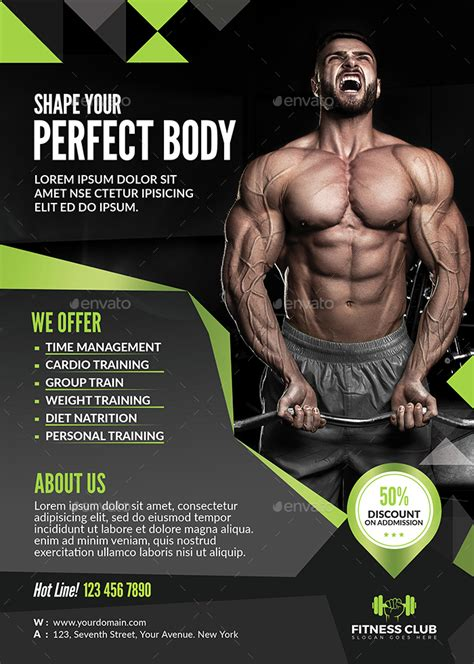 fitness flyer fitness flyer by themedevisers graphicriver