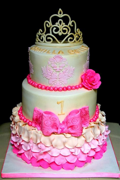 Princess Birthday Cake by Amazing 1st Birthday Princess Cake