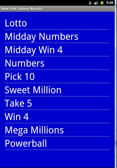 ny lottery app for android new york lottery results android apps on play