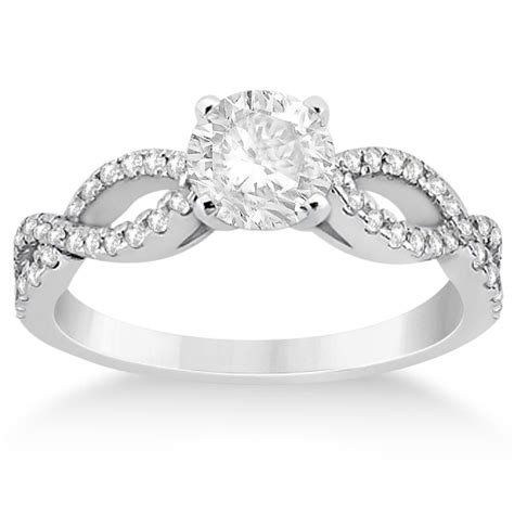 infinity setting twist infinity engagement ring setting 14k white