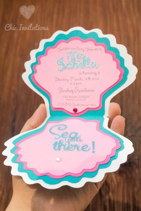 Mermaid Handmade Invitations - mermaid invitations mermaids and invitations on