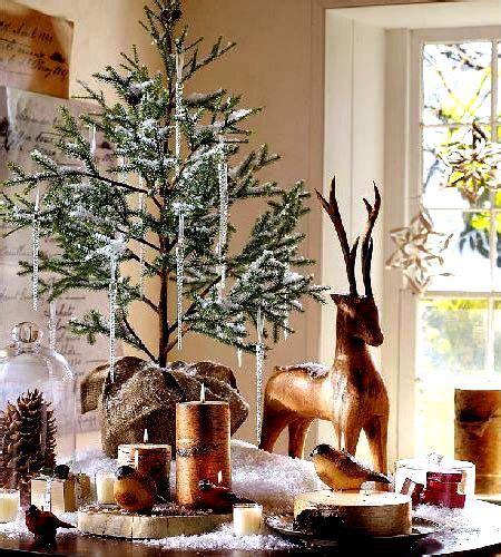 rustic table top christmas tree christmas decorating