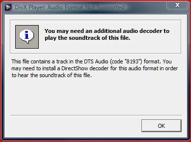 audio format is not supported divx player mkv files audio format not supported use
