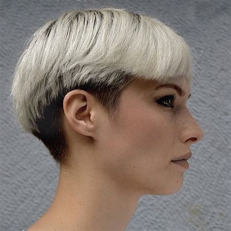 hairstyle short hair undercut pixie undercut for straight and curly hair