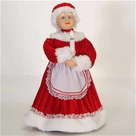 24 quot lighted and animated traditional mrs claus with