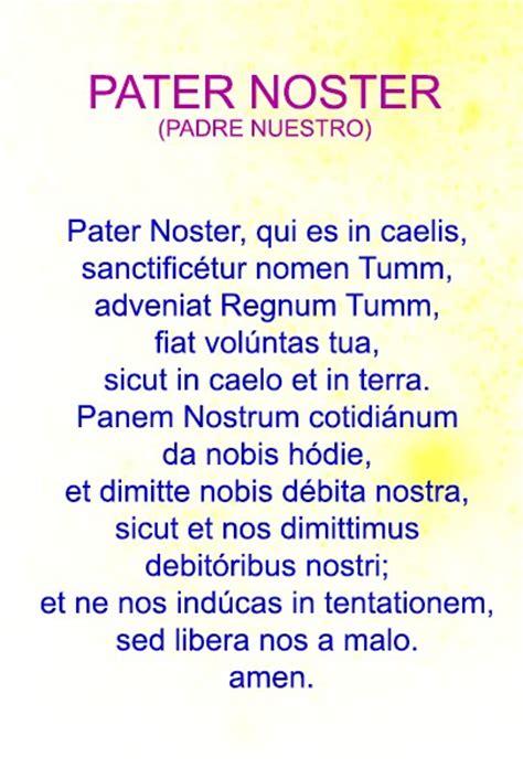padre nuestro pater noster pater noster padre nuestro en latin servidores de la luz