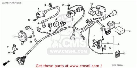 honda cg125 1993 singapore wire harness schematic partsfiche