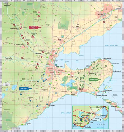 printable map geelong map geelong