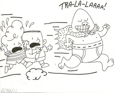 coloring page of captain underpants enjoy coloring