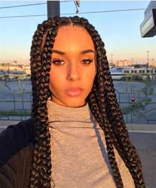 how to part hair for boxed braids 17 meilleures id 233 es 224 propos de black box braids sur