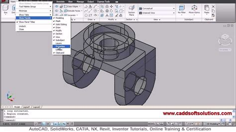 tutorial video autocad 3d autocad 3d modeling exercise tutorial for beginners
