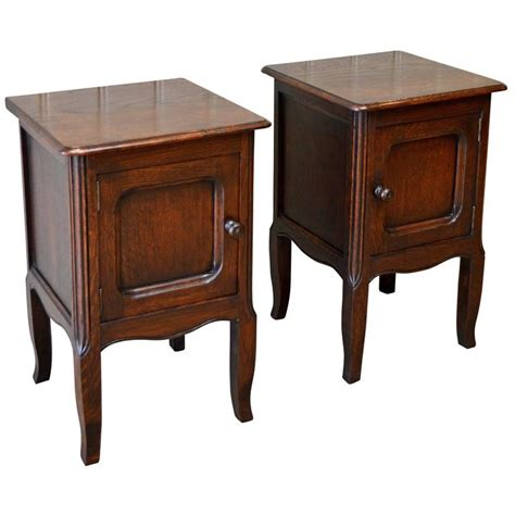 Small Bedside L small pair of oak bedside cabinets at 1stdibs