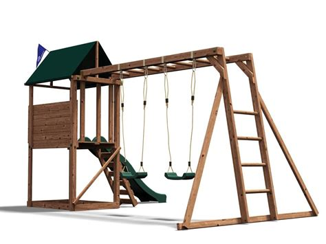 wooden swing sets with monkey bars kids swing set wooden climbing frame childrens garden