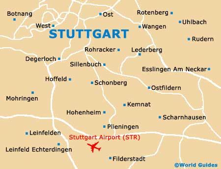 stuttgart germany map map of stuttgart airport str orientation and maps for