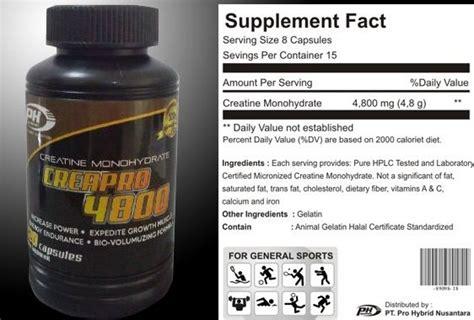 Suplemen Creatine Powder Jual Prohybrid Creapro Creatine Halal Mui