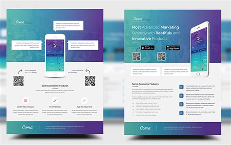 Mobile App Promotion Flyer Templates Free