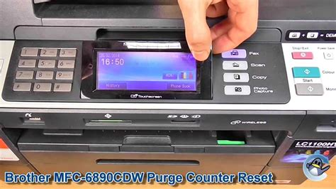brother mfc j220 reset counter brother mfc 6890cdw how to reset the purge counter youtube