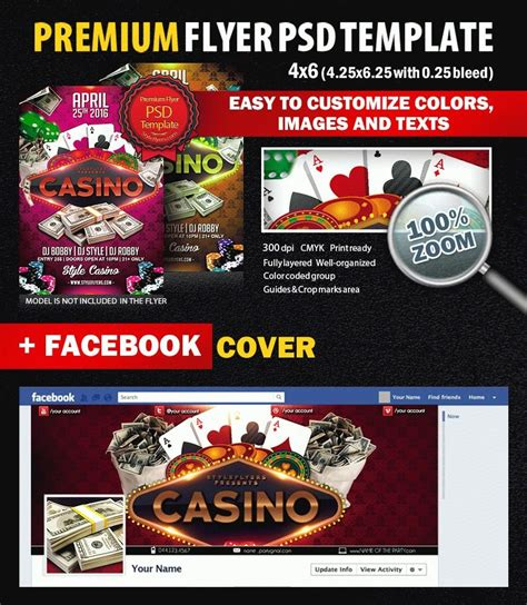Casino Psd Flyer Template 6921 Styleflyers Casino Flyer Template Free