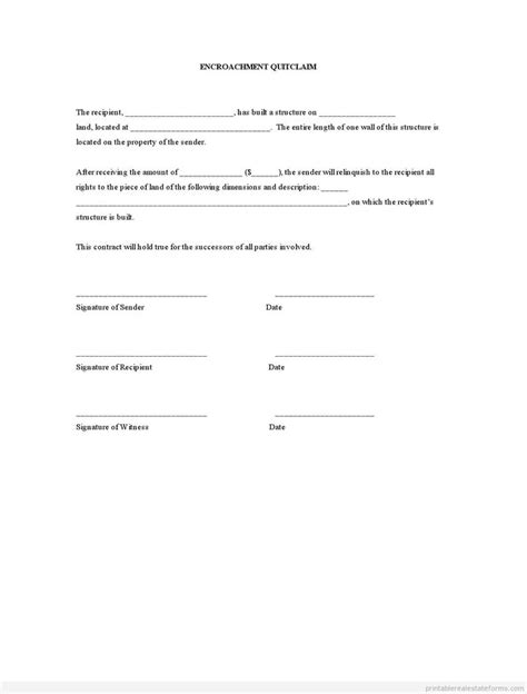 encroachment agreement template 2477 best images about sle real estate form on
