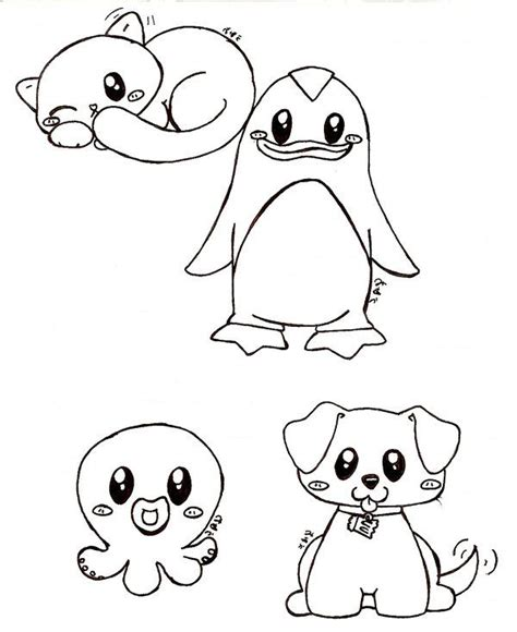 Coloring Pages Iphone 6 Plus 6s Plus Custom anime animal drawings easy really animals by bakauo