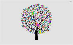 colorful tree colorful tree wallpaper vector wallpapers 1220